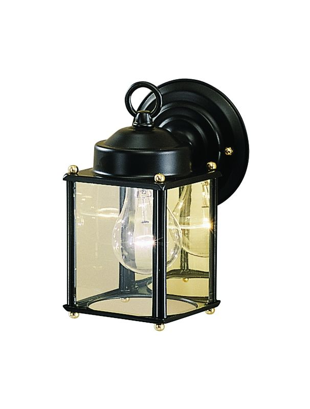 "Kichler 9611 1 Light 8"" Outdoor Wall Light Black Outdoor Lighting NULL"