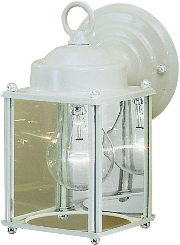 "Kichler 9611 1 Light 8"" Outdoor Wall Light White Outdoor Lighting NULL"