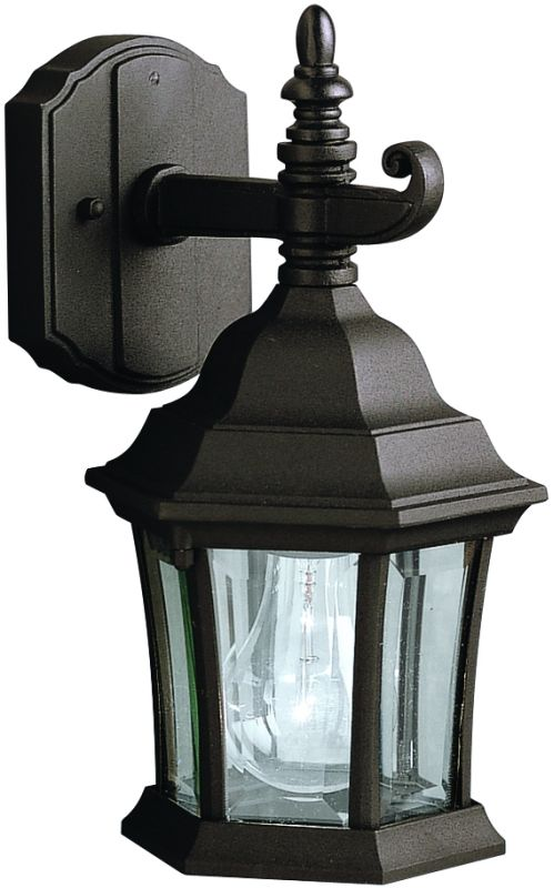 """Kichler 9788 Townhouse Collection 1 Light 12"""" Outdoor Wall Light Black"""