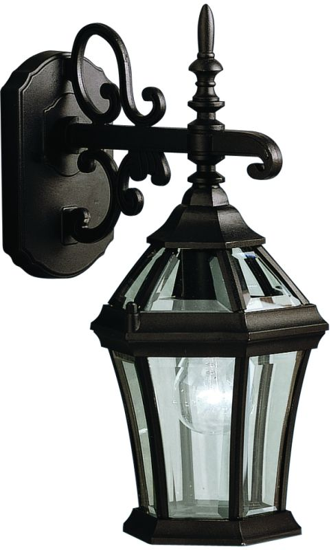 """Kichler 9789 Townhouse Collection 1 Light 15"""" Outdoor Wall Light Black"""