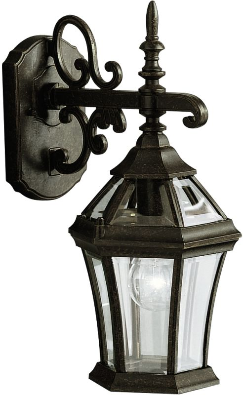 """Kichler 9789 Townhouse Collection 1 Light 15"""" Outdoor Wall Light"""