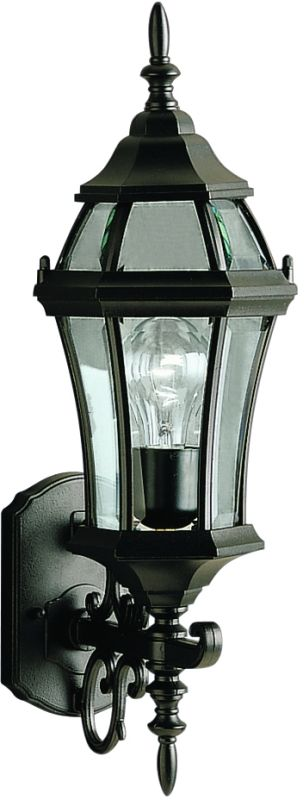 """Kichler 9790 Townhouse Collection 1 Light 22"""" Outdoor Wall Light Black"""
