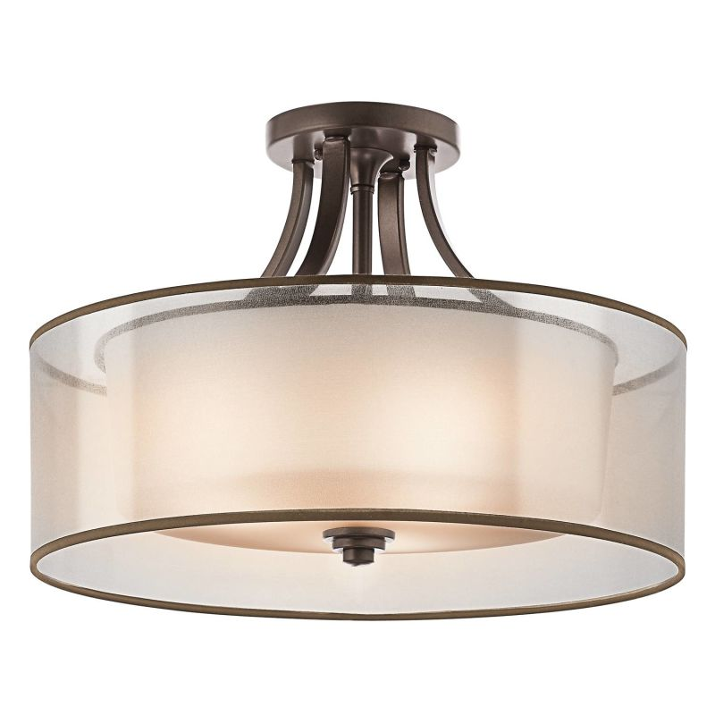 "Kichler 42387 Lacey 4 Light 20"" Wide Semi-Flush Ceiling Fixture with"
