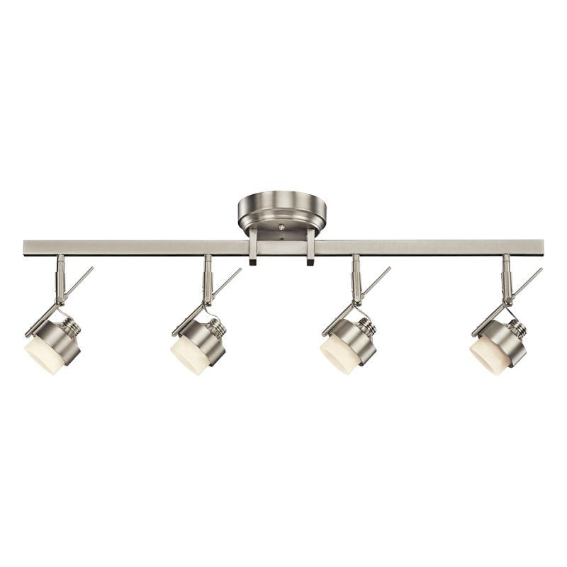 Directional Pendant Track Lighting: Kichler 10326NI Brushed Nickel Modern 4 Light LED