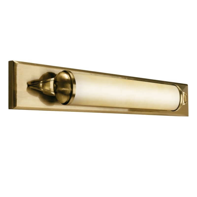 "Bathroom Vanity Lights Brass: Kichler 10615AB Antique Brass Pierson 36"" Wide Single-Bulb"