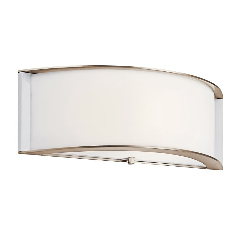 Kichler 10630PN Polished Nickel Contemporary Arcola Wall Sconce
