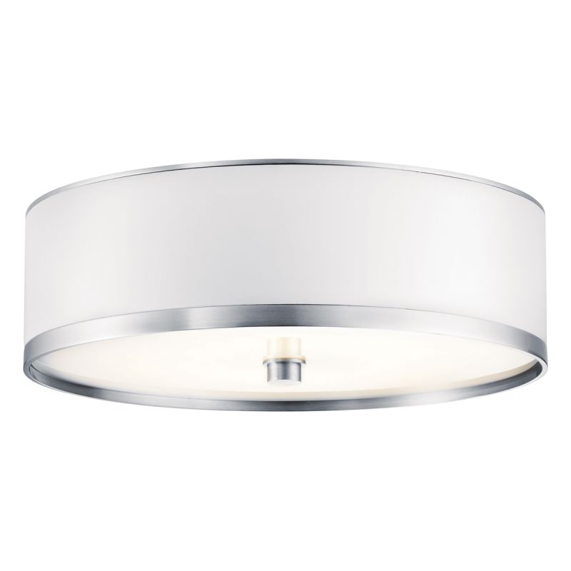 Kichler 10803 Pira 1 Light Flush Mount Indoor Ceiling Fixture Brushed
