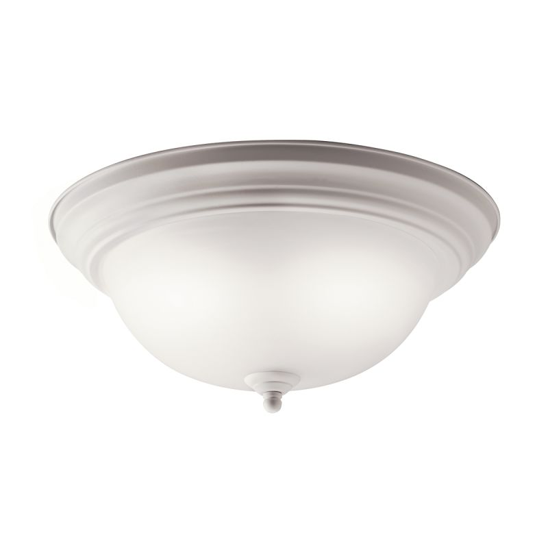 Kichler 10836 Senna 2 Light Flush Mount Indoor Ceiling Fixture White