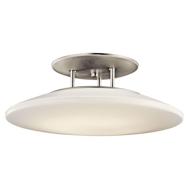 Kichler 10898 Ara 1 Light Semi-flush Indoor Ceiling Fixture Brushed