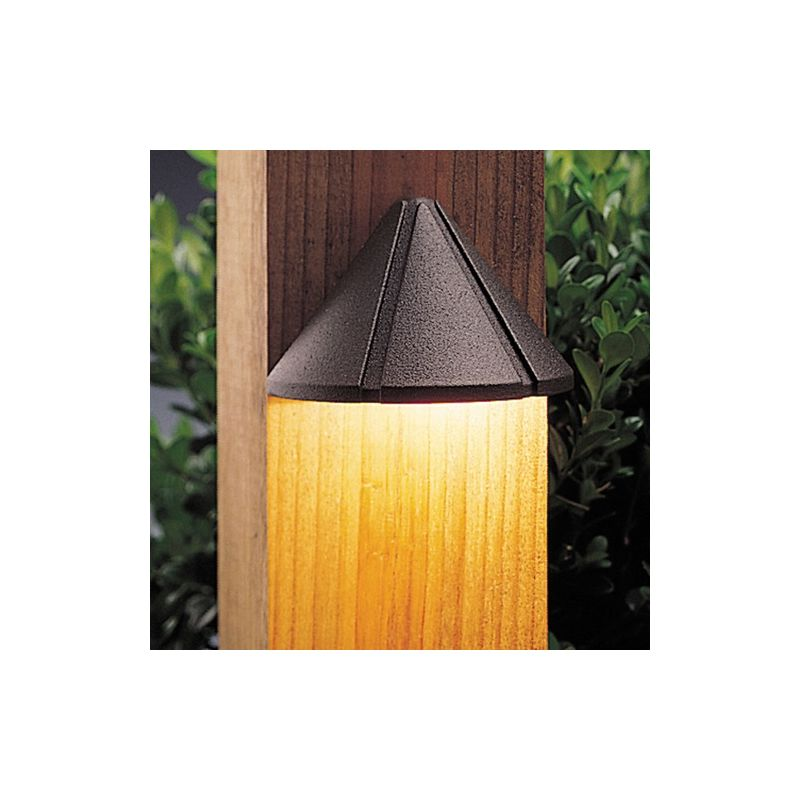 """Kichler 15065 Six Groove 4"""" Xenon Deck and Step Light Textured"""