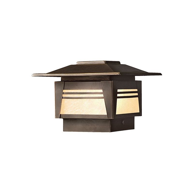 "Kichler 15071 Zen Garden 7"" Post Cap Light Olde Bronze Outdoor"