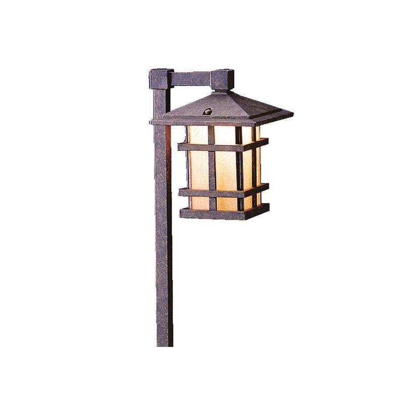 "Kichler 15232 Cross Creek 27"" Incandescent Path Lantern Aged Bronze"