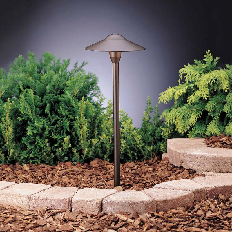 Kichler 15310AZT6 1 Light 12V Path & Spread Landscape Dome Light -