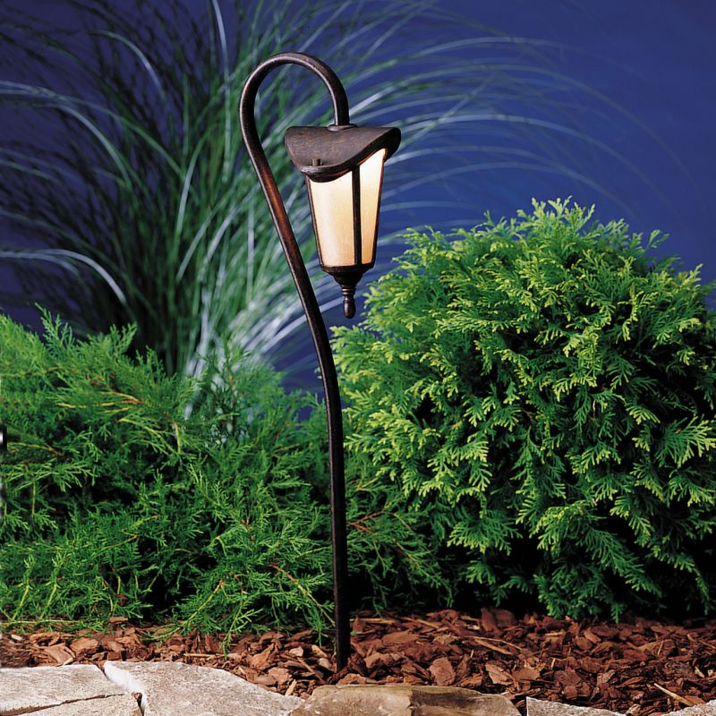 """Kichler 15313 Lafayette 27"""" Xenon Path Lantern Tannery Bronze / Gold"""
