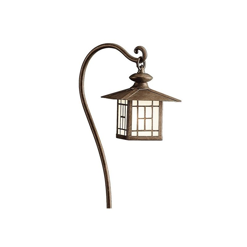 "Kichler 15319 Mission 27"" Xenon Path Lantern Patina Bronze Outdoor"