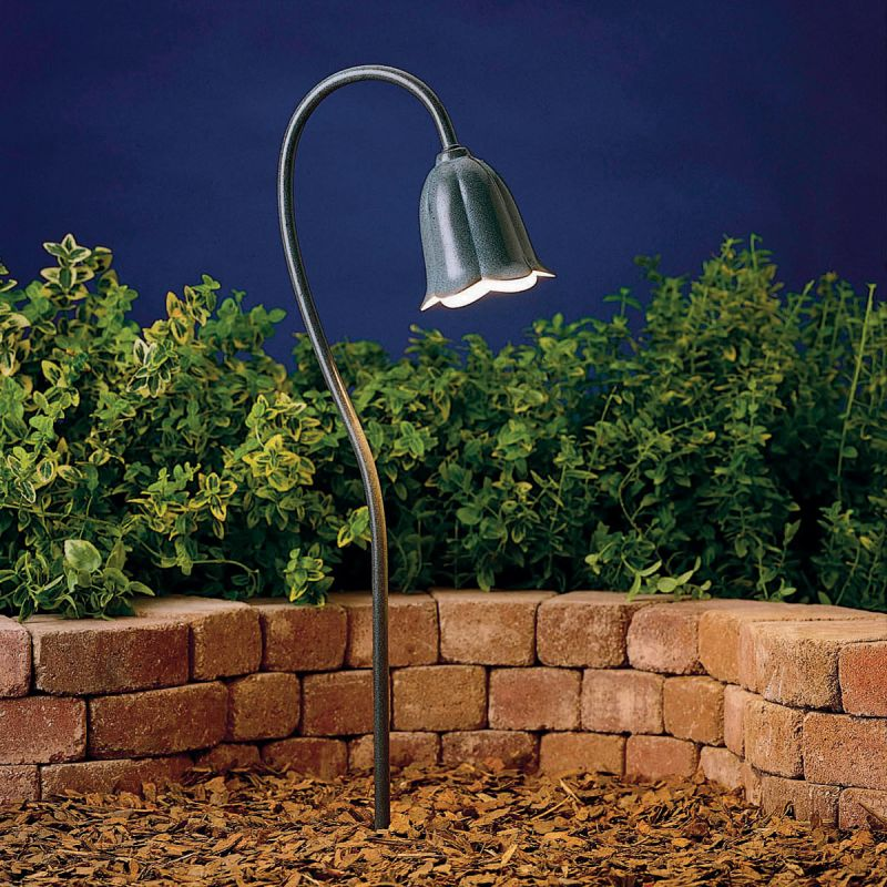 Low Voltage Outdoor Chandelier: Kichler 15349MST Midnight Spruce Tulip 18.5W Low Voltage