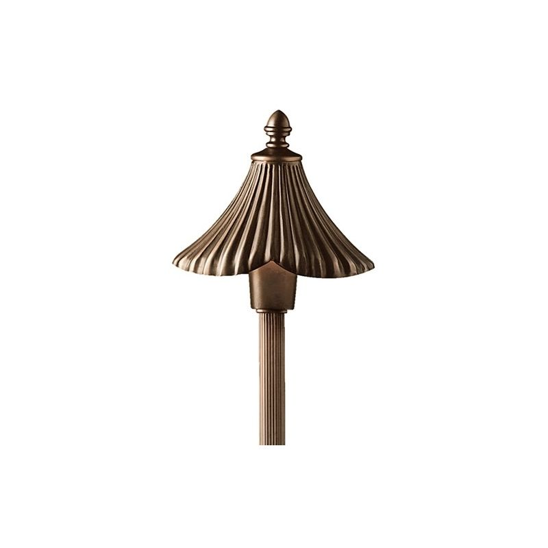 """Kichler 15379 Gate House 25"""" Xenon Path and Spread Light Olde Bronze"""