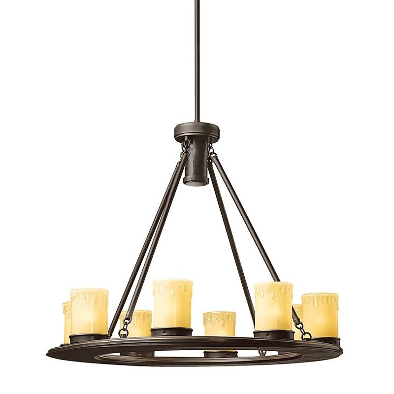 "Kichler 15402 Oak Trail 26"" Low-Voltage 9 Light Outdoor Chandelier"