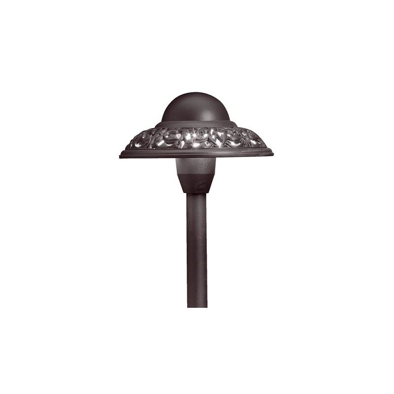 "Kichler 15457 Pierced Dome 22"" Xenon Path and Spread Light Textured"