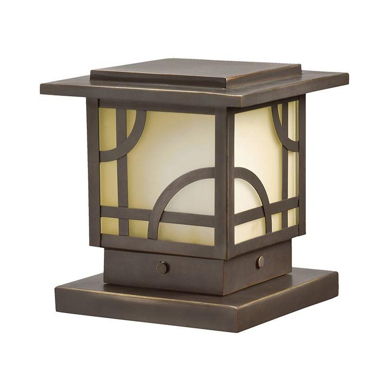 """Kichler 15474 Larkin Estates 6"""" Post Cap Light Olde Bronze Outdoor"""