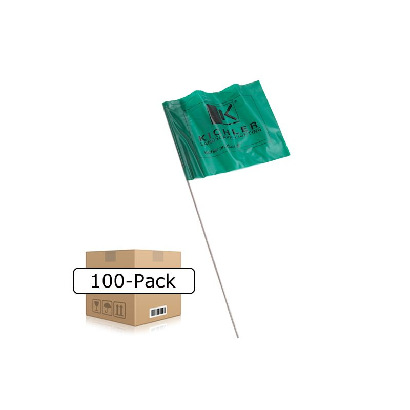 Kichler K15507 Landscape Flag Marker - Package of 100 Orange Outdoor