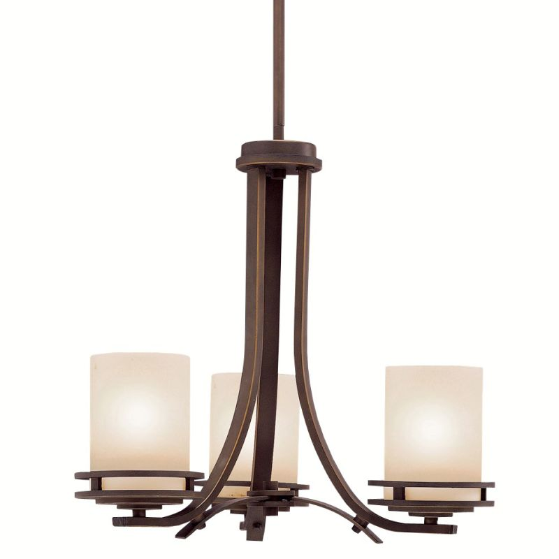 "Kichler 1671 Hendrik 3 Light 19"" Wide Chandelier with Satin Etched"