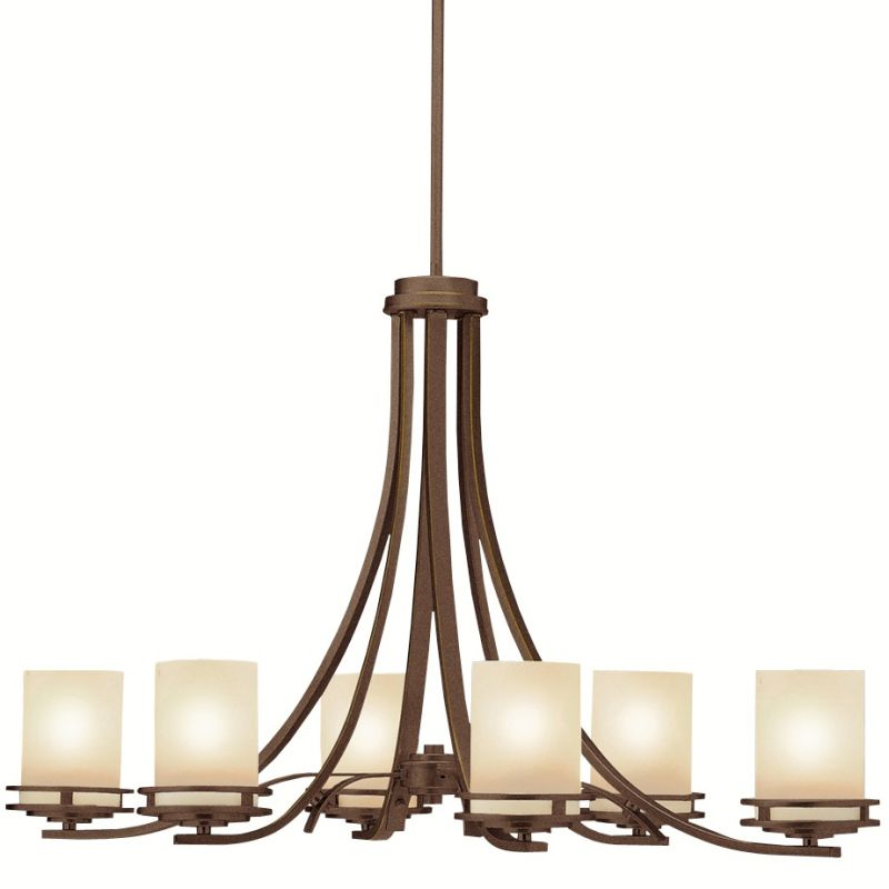 "Kichler 1673 Hendrik 6 Light 36"" Wide Chandelier with Satin Etched"