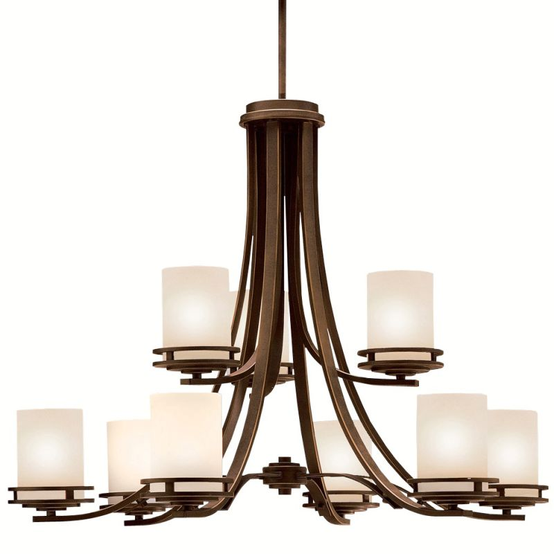 "Kichler 1674 Hendrik 9 Light 34"" Wide 2-Tier Chandelier with Satin"