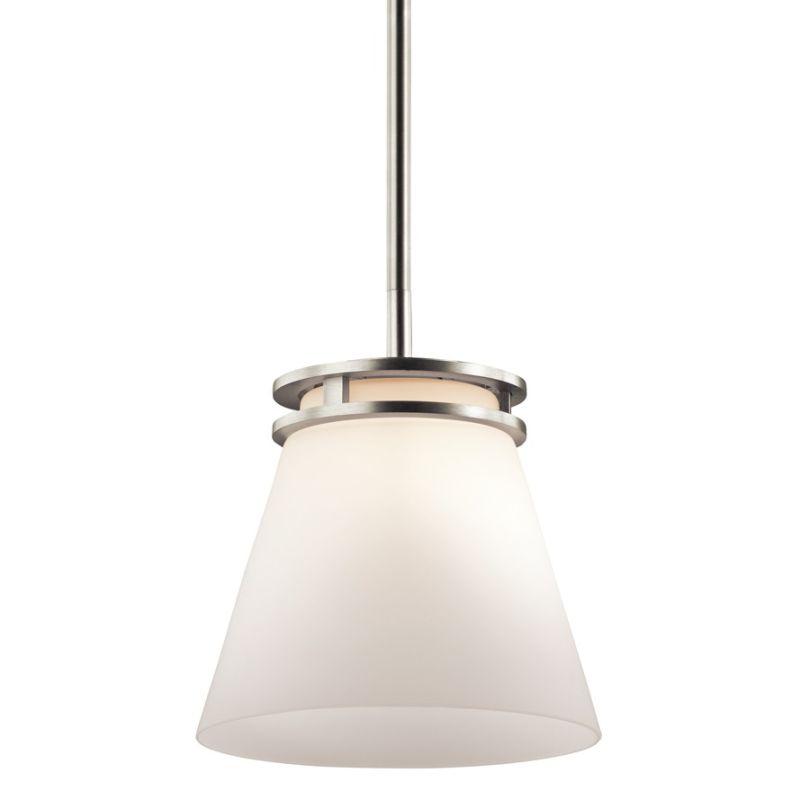 "Kichler 1687 Hendrik Single Light 8"" Wide Mini Pendant with Satin"