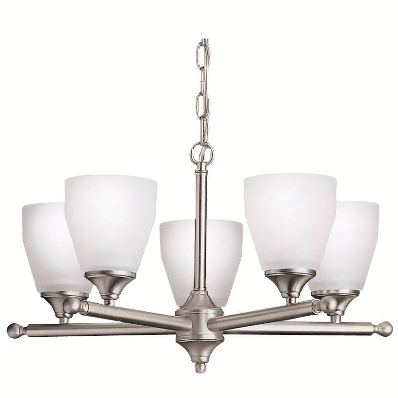 "Kichler 1748 Ansonia Single-Tier Chandelier with 5 Lights - 72"" Chain"
