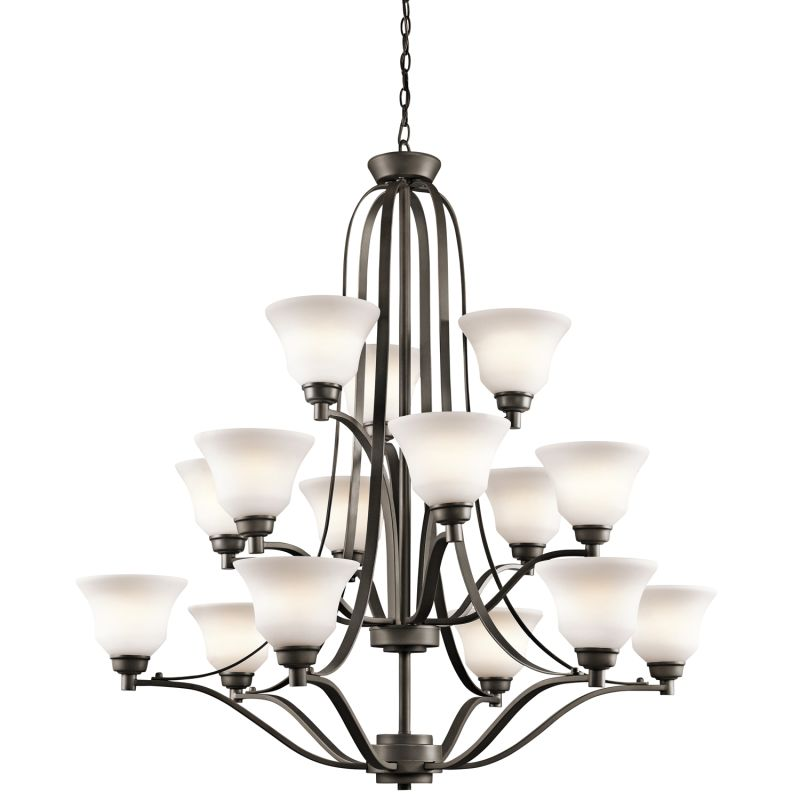 "Kichler 1789 Langford 3-Tier Chandelier with 15 Lights - 72"" Chain"