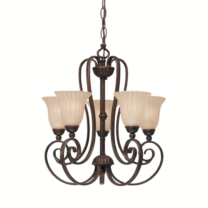 Kichler 1825 Willowmore Single-Tier Mini Chandelier with 5 Lights - Sale $250.00 ITEM: bci842550 ID#:1825TZ UPC: 783927199421 :