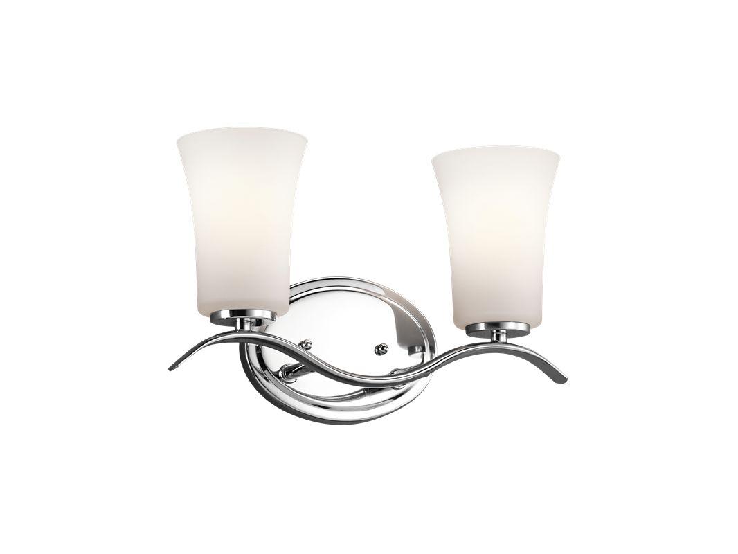 "Kichler 45375 Armida 14"" Wide 2-Bulb Bathroom Lighting Fixture Chrome"