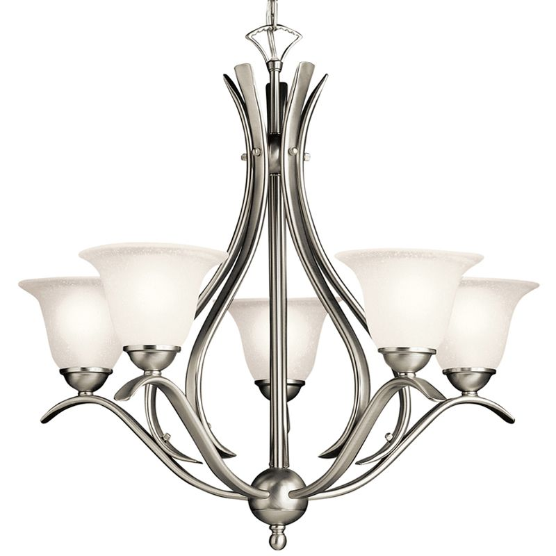 "Kichler 2020 Dover 5 Light 24"" Wide Chandelier with Etched Glass"