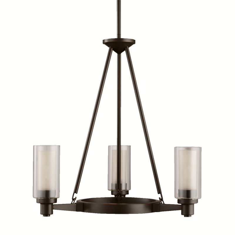 Kichler 2343OZ Olde Bronze Contemporary Circolo Chandelier