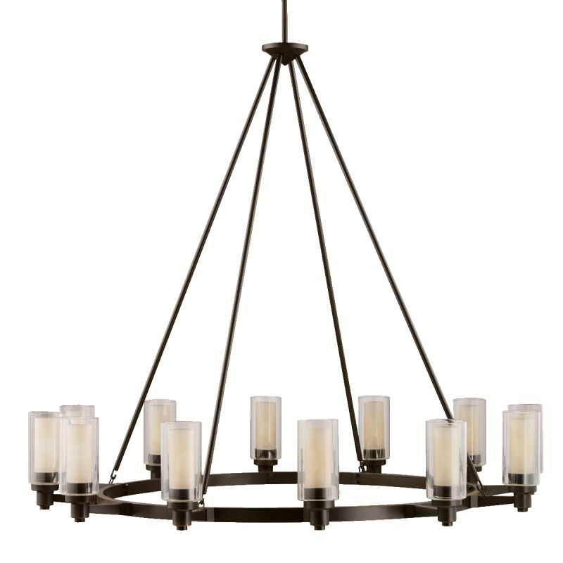 Kichler 2347OZ Olde Bronze Contemporary Circolo Chandelier