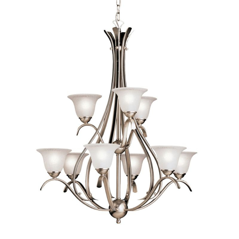"Kichler 2520 Dover 9 Light 28"" Wide 2-Tier Chandelier with Etched"