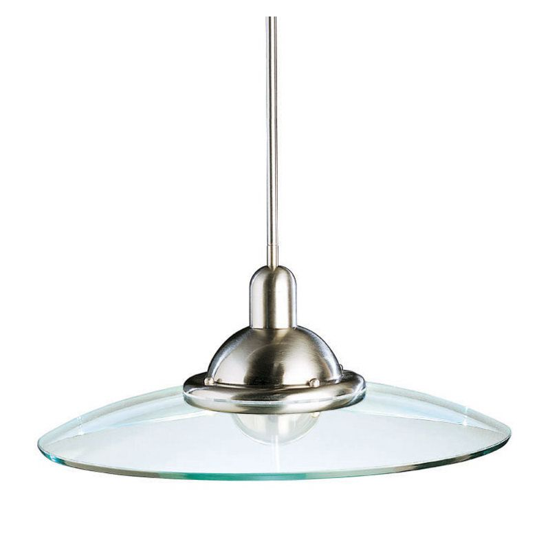 Kichler 2640 Galaxie Single-Bulb Indoor Pendant with Round Glass Shade