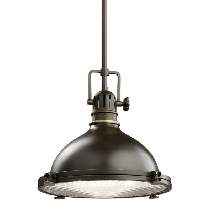 "Kichler 2665 Hatteras Bay Single Light 12"" Wide Pendant with Metal"