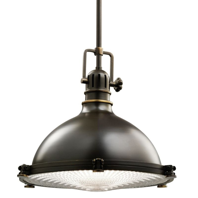 "Kichler 2666 Hatteras Bay Single Light 13"" Wide Pendant with Metal"