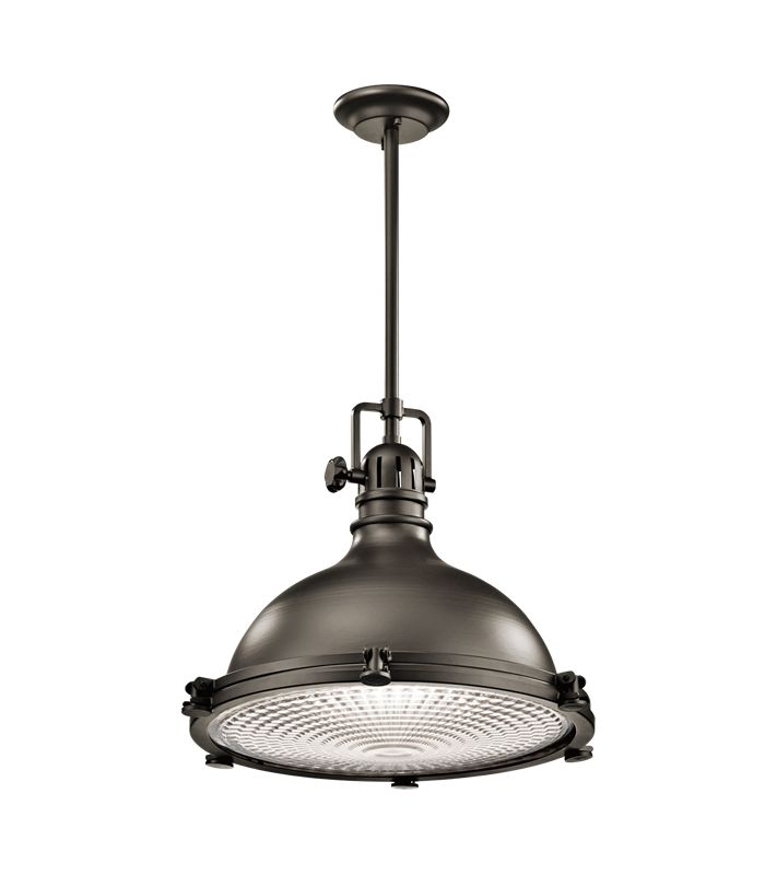 "Kichler 2691 Hatteras Bay Pendant Light with Metal Shade - 24"" Wide"