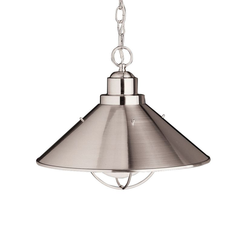 "Kichler 2713 Seaside Single Light 16"" Wide Pendant Brushed Nickel"