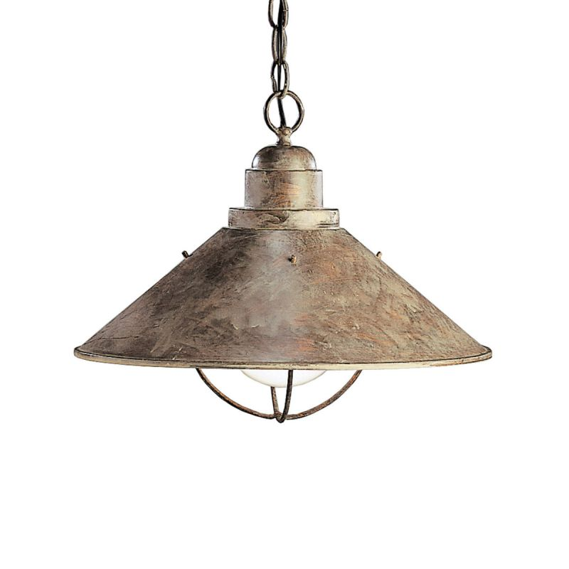 "Kichler 2713 Seaside Single Light 16"" Wide Pendant Olde Brick Outdoor"