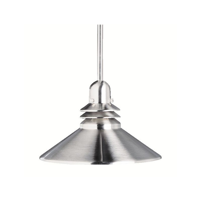 """Kichler 2714NI Nickel 1 Light Hanging Lamp 8"""" Pendant Grenoble"""