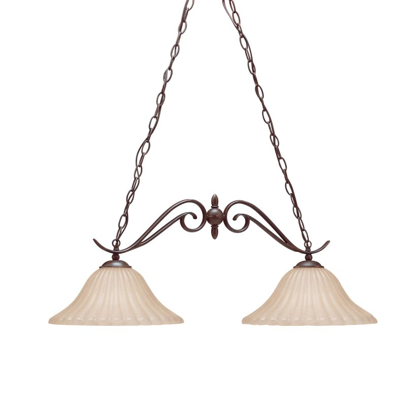 Kichler 2929 Willowmore Single-Tier Linear Chandelier with 2 Lights -