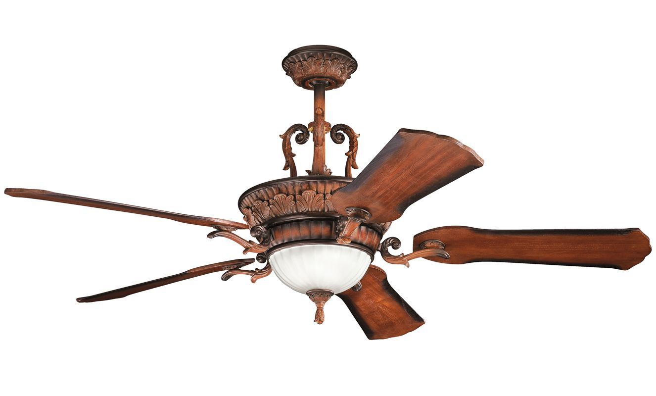 "Kichler 300008 60"" Indoor Ceiling Fan with Blades Light Kit Downrod"