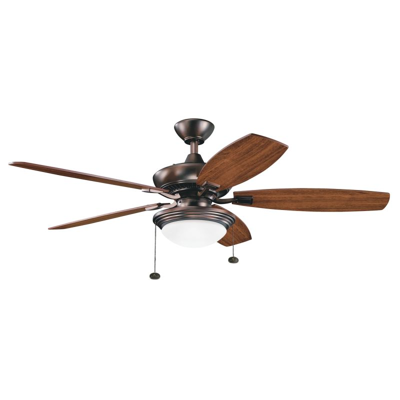 "Kichler Canfield 52"" Indoor Ceiling Fan with Blades Downrod and Pull"