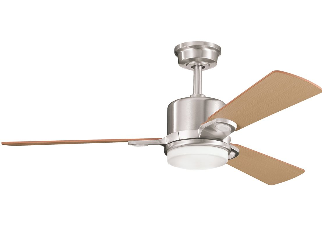 "Kichler 300017BSS Brushed Stainless Steel 48"" Indoor Ceiling Fan with ..."