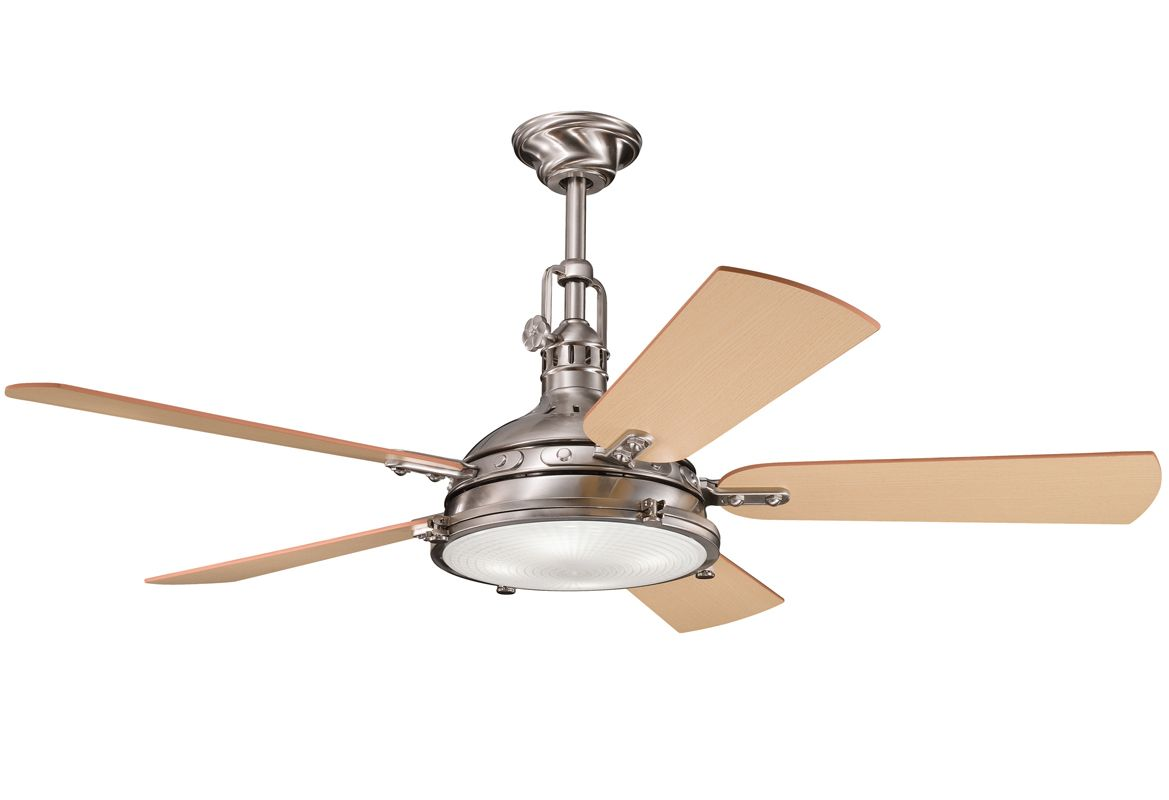"Kichler Hatteras Bay 56"" Indoor Ceiling Fan with Blades Light and"