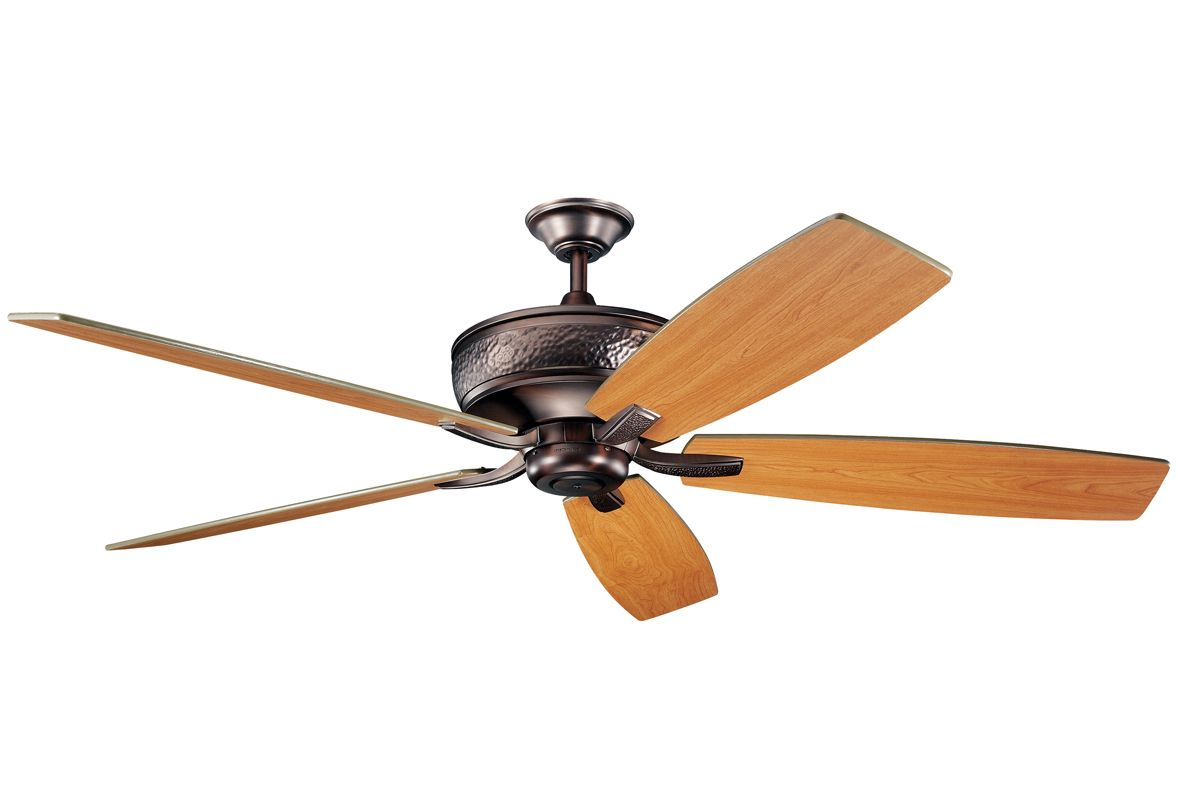 "Kichler 300106 70"" Indoor Ceiling Fan with Blades Downrod and Remote"